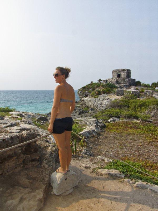Tulum, Mexico - Jess at Tulum ruins