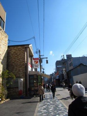 Walking along the streets in Nara