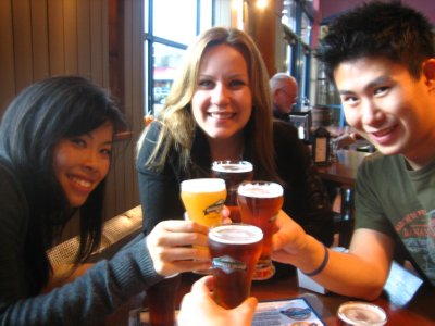 Beer tasting at Granville Island Brewery