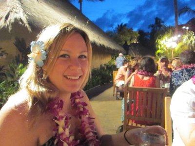 Jacq at the luau