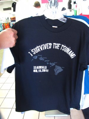 Survived the tsnumami t-shirt