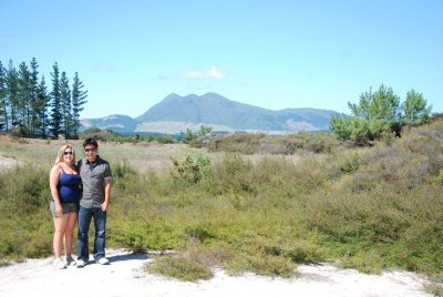 Jesse and Jacq in front of Mt Tauhara
