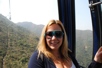Jacq in the cable car
