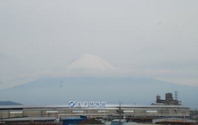 View of Mt Fuji on the way to Kyoto