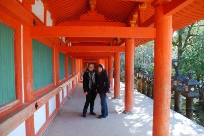 Walking around shrines in Nara