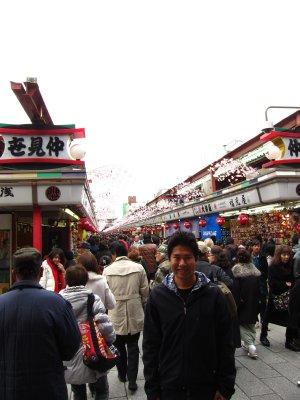 Walking around the shops in Asakura