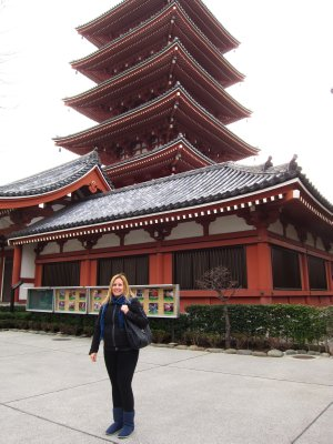 Jacq at Sensoji Temple