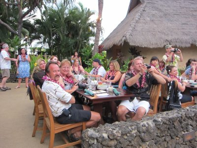 The gang at the luau