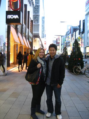 Jacq and Jesse in Ginza