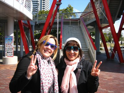 Jacq and Emi, sunny day in Kobe!
