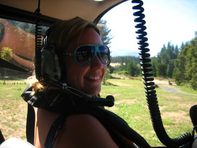 Jacq in the helicopter