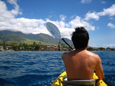 Jessse kayaking