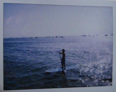 Jesse paddleboarding