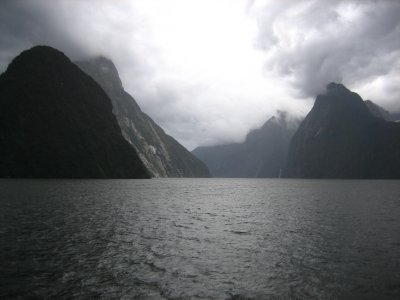 The view at Milford Sound