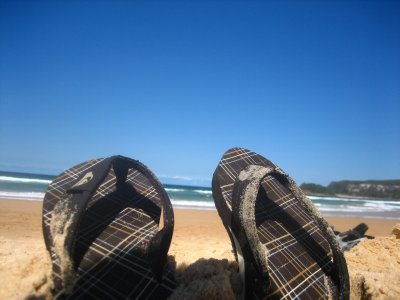 Relaxing at Manly Beach