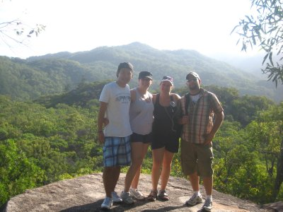 The four amigos on the Fort Hike