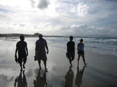 Walk on Byron Bay beach