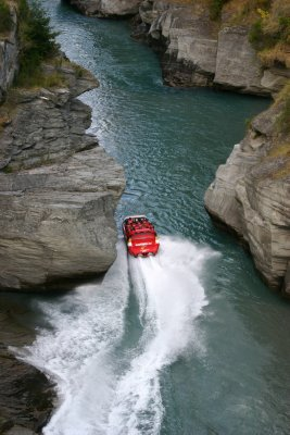 Cutting it close on the shotover jet!