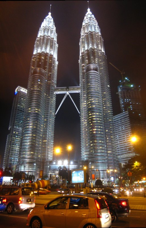 View from the city centre - KL at night
