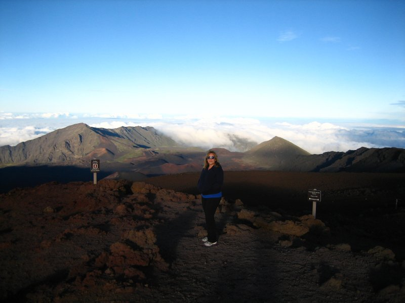 At the crater