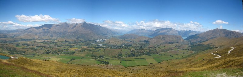 View from Coronet Peak, where we went hang gliding