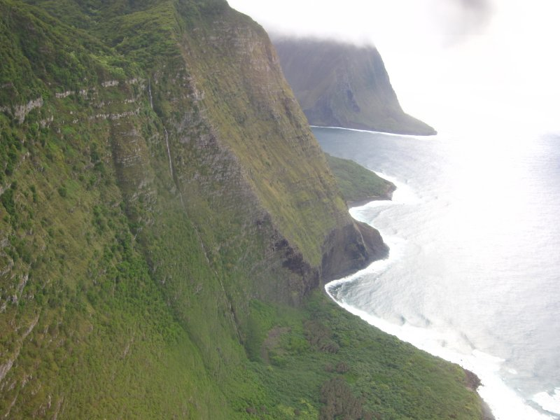 Steep sea cliffs on Molokai