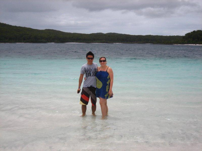 Jesse and Jacq at Lake MacKenzie