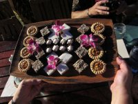 Desserts at the luau