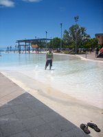 Jesse in the Cairns Lagoon