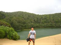 Jesse at Lake Wabby