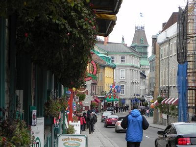 walking inside the old city of Quebec