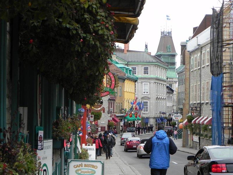 walking inside the old city of Quebec
