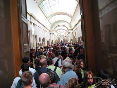 Louvre Museum Crowd