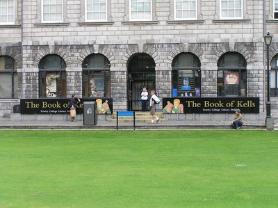 Trinity College location of the Book of Kells Dublin