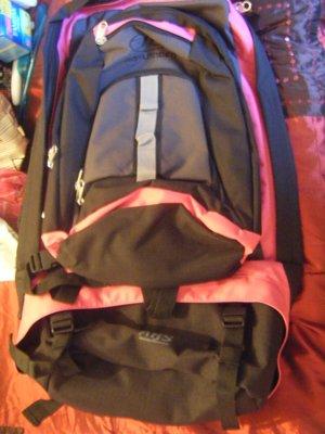 My nowhere near big enough backpack