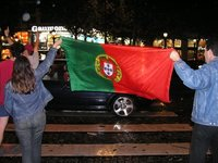 Who knew there were so many Portugese fans?
