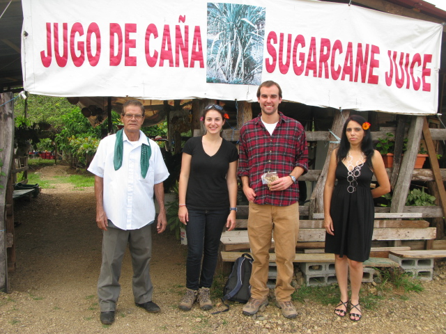 Hillary & Kyle with Sugar Cane Guy and Francisco´s wife