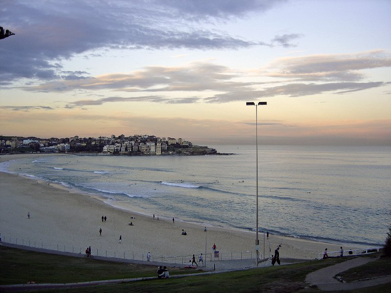 bondi beach at sunset