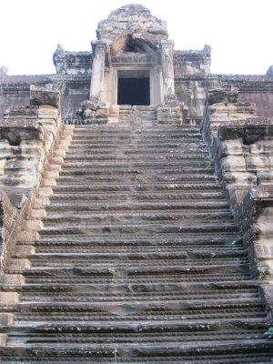 Really steep steps to climb up