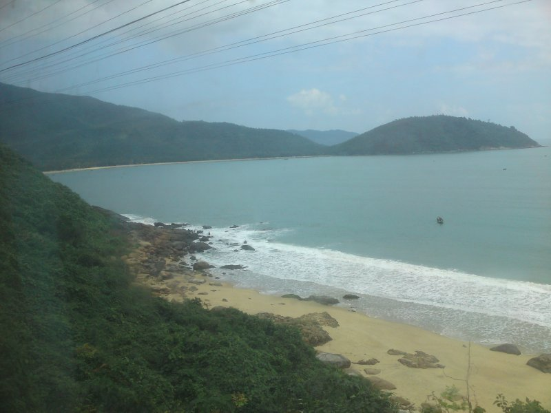 View from train coming into Hoi An