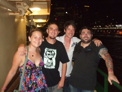 Me, Jay, Shane & Gene on the ferry to Manly