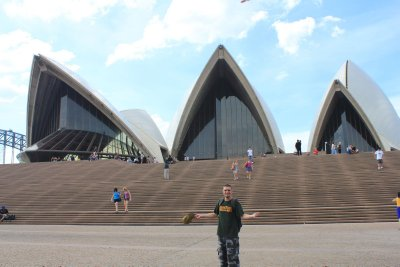 Jay in front of the Opera House