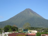 View of Arenal Volcano from our balcony