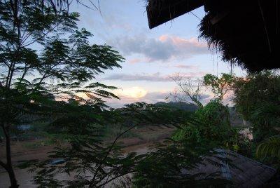 Solnedgang fra terassen!!!