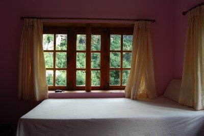 Det rosa rommet! Ett av de beste stedene vi bodde på hele turen :-)
