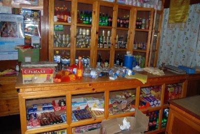 Kiosken i bygningen der vi bodde etter skjelvet........ja....det ristet!!!