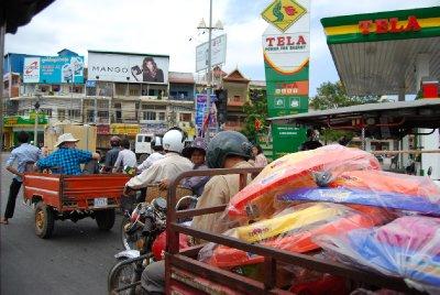 Travelt veikryss i Phnom Penh