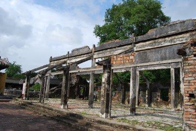 En av de mange ruinene inne i citadellet