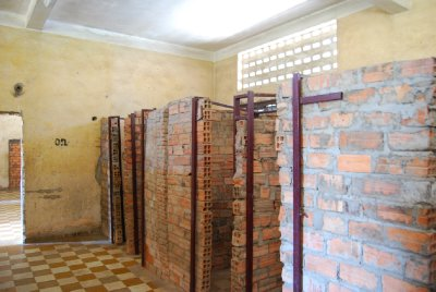 Rekonstruksjon av hvordan murstenscellene så ut.....