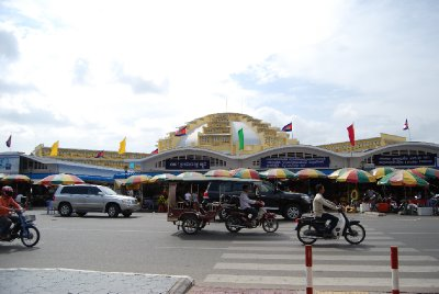 Markedshallen i Phnom Penh